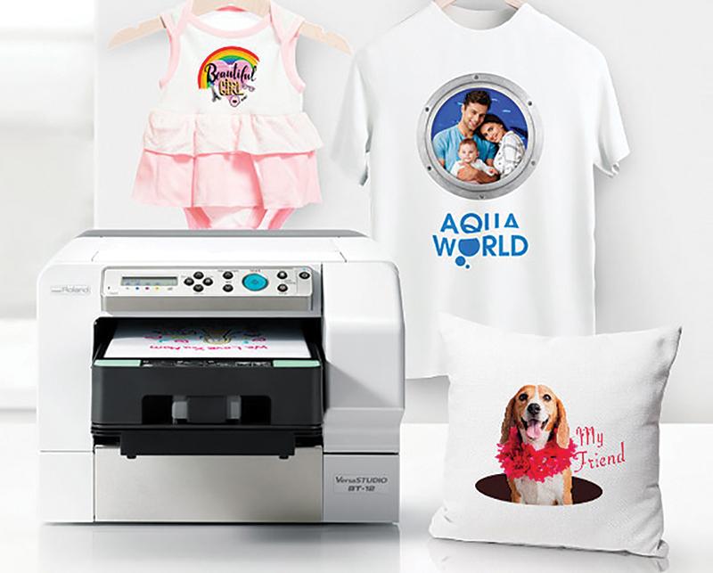 Roland VersaSTUDIO BT-12 Direct-to-Garment Desktop Printer at Allegheny Educational Systems