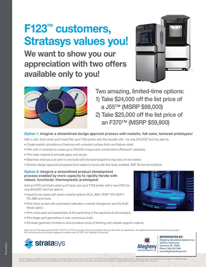Allegheny Educational Systems Stratasys J55 Promo